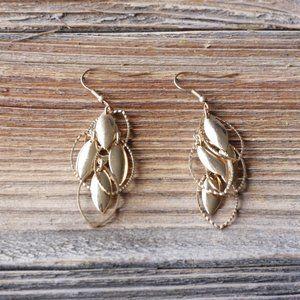 Golden Dangling Earrings